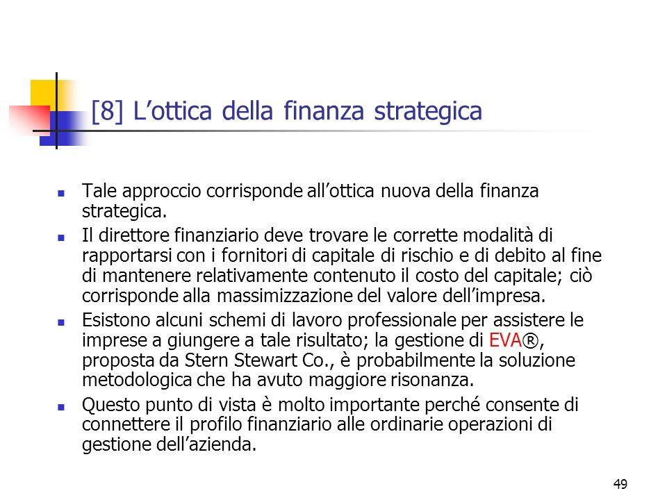 [8] L'ottica della finanza strategica